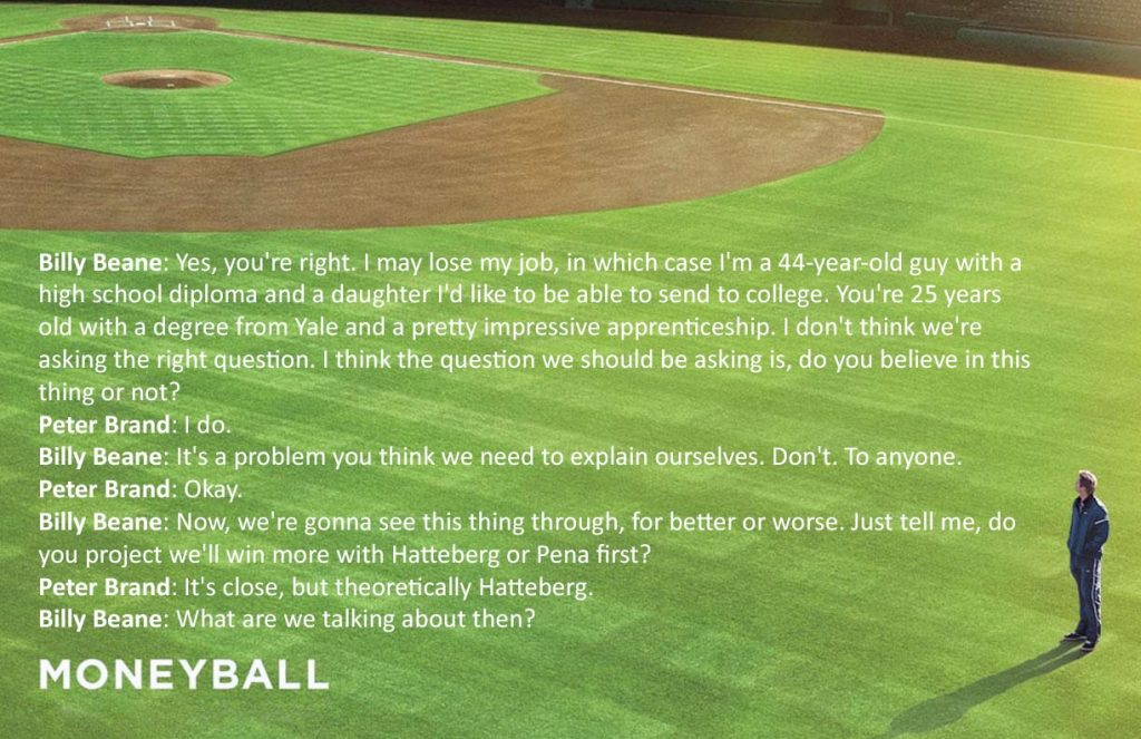 16 Moneyball Quote Poster