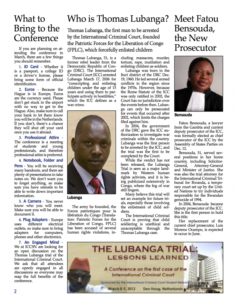 ICCSN Newsletter Page 2